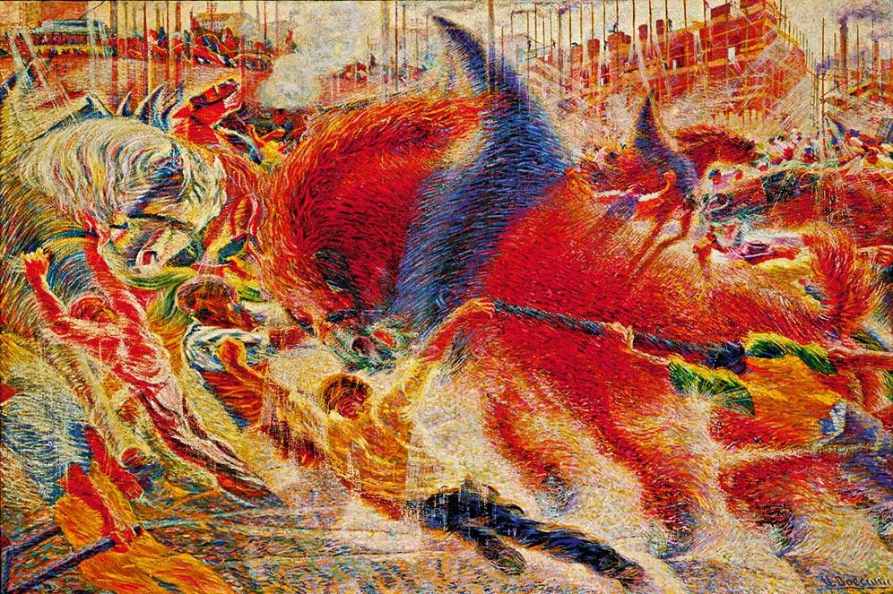 Umberto Boccioni, The City Rises ( La città che sale ), 1910–11 ...