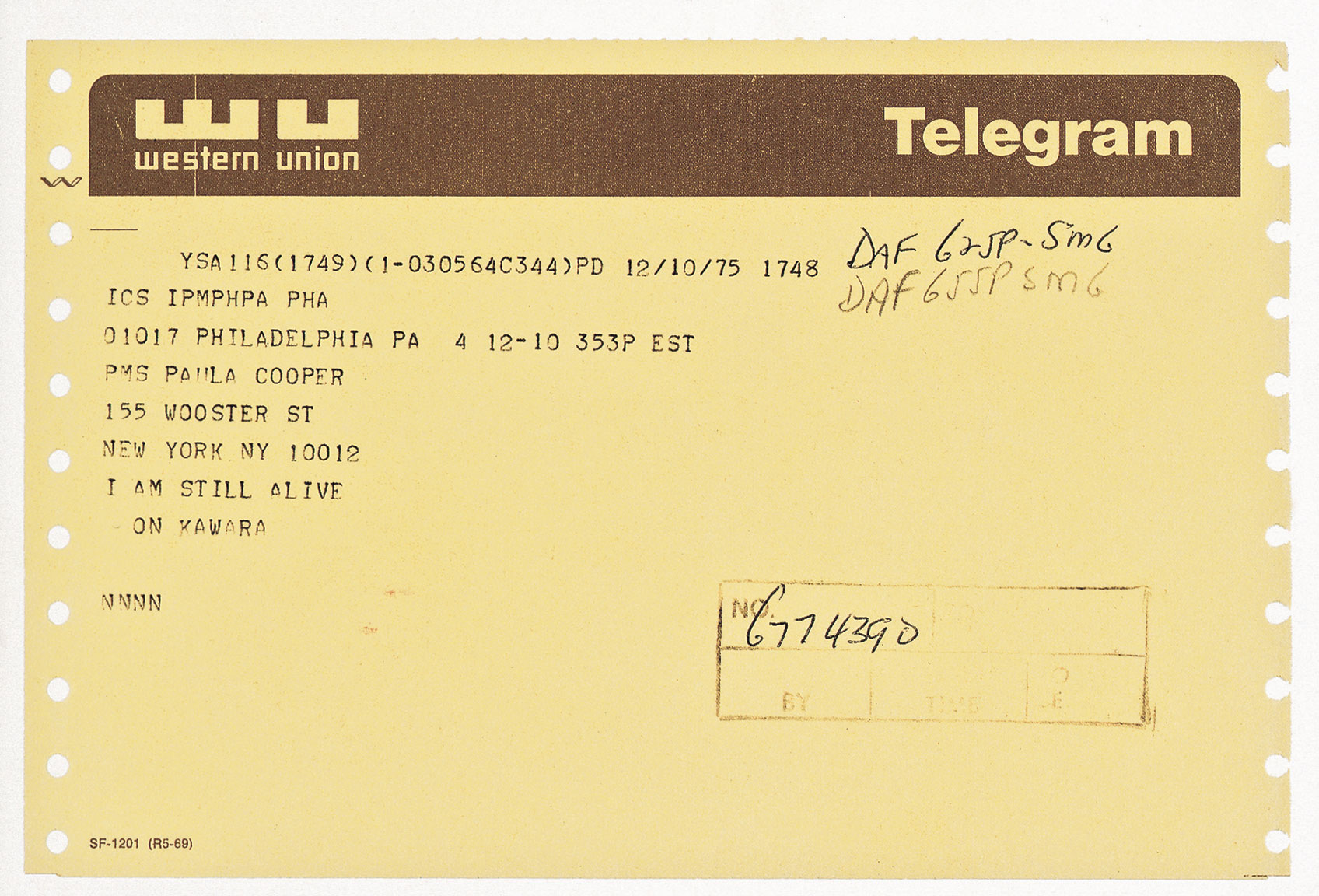 Featured image of article: On Kawara Image of the Day: April 15