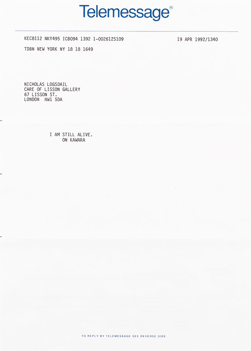 Featured image of article: On Kawara Image of the Day: February 28