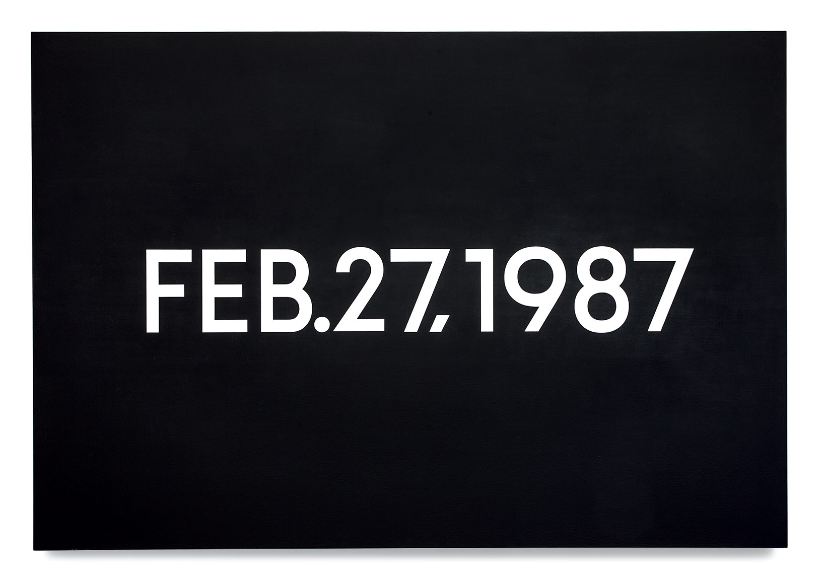 Featured image of article: On Kawara Image of the Day: February 27