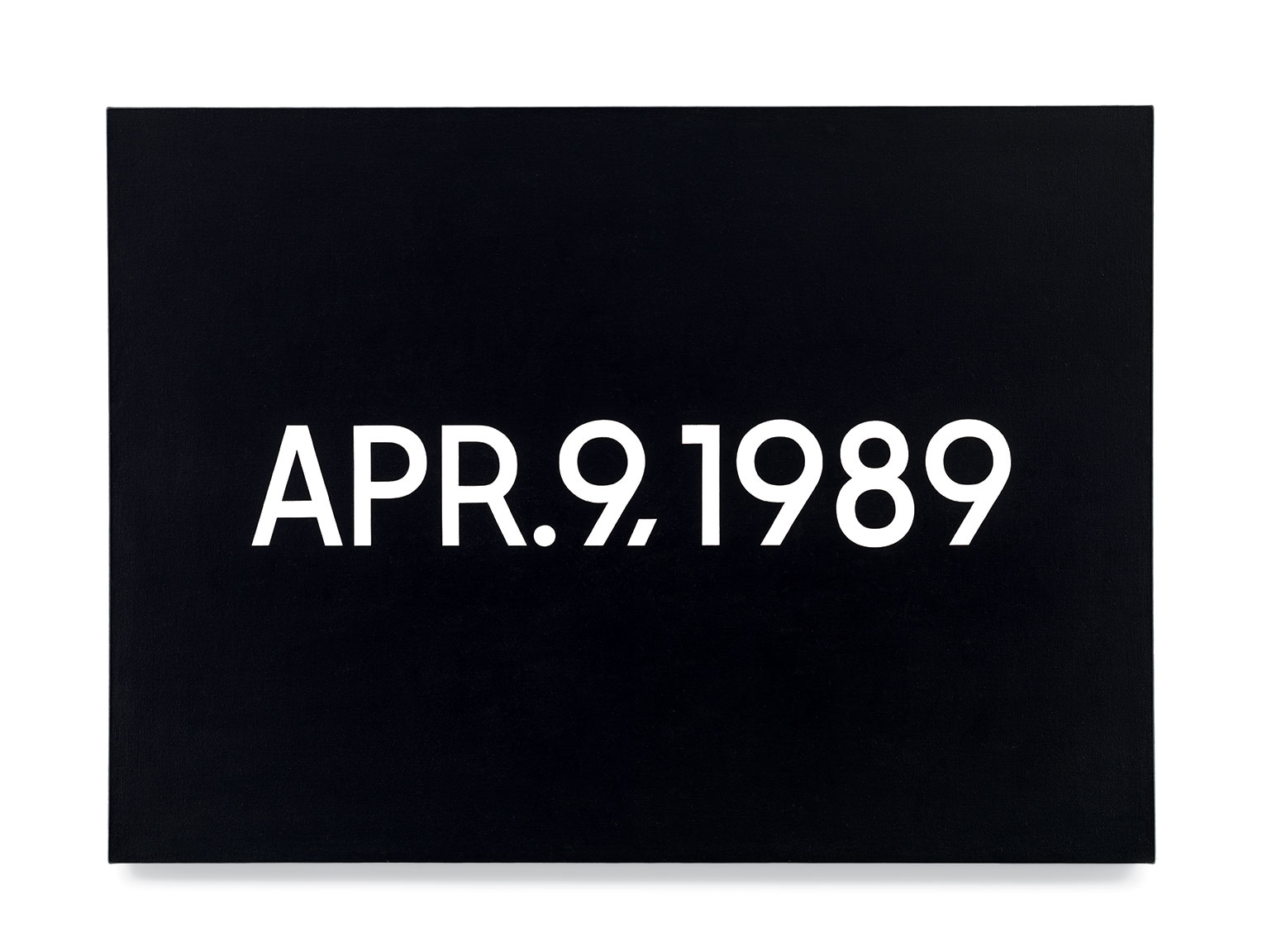 Featured image of article: On Kawara Image of the Day: April 9