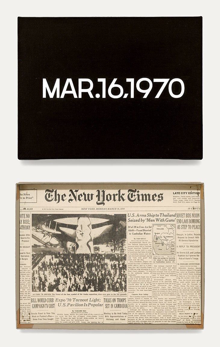Featured image of article: On Kawara Image of the Day: March 16